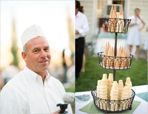 ice cream bar wedding