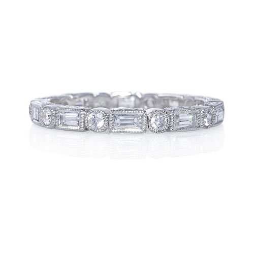 Charmant Beverley K Baguette And Round Diamond Eternity Band, Greenwich St.  Jewelers, $3,865