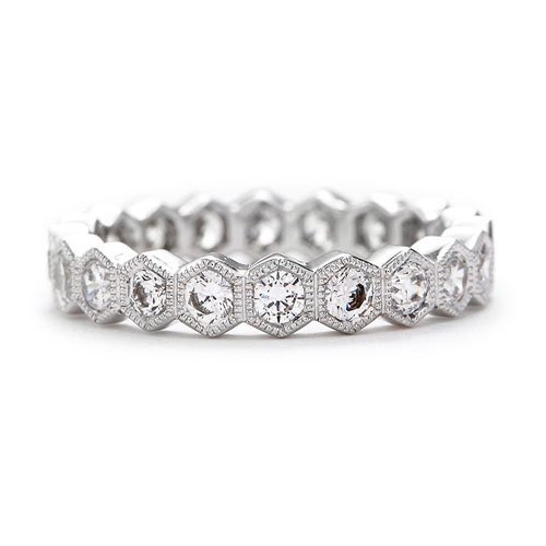Incroyable Beverley K Hexagon Diamond Eternity Band, Greenwich St. Jewelers, $6,240