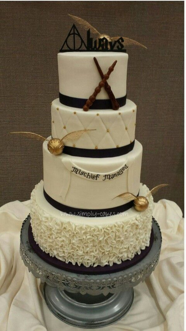 Golden Snitch Wedding Cake