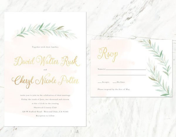 watercolor wedding invites - Watercolor Wedding Invitations