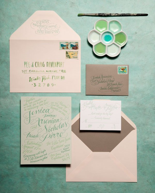 14 watercolor wedding invitations we seriously love watercolor wedding invites junglespirit Image collections