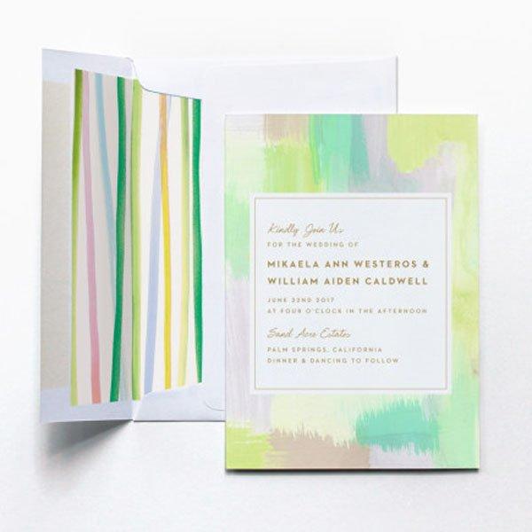 Watercolor Wedding Invites