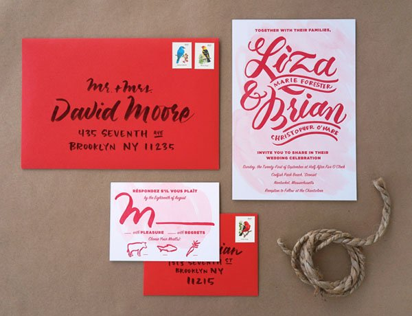 14 watercolor wedding invitations we seriously love, Wedding invitations