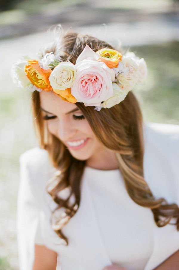 Bridal Shower Hairstyle : Wedspiration: a festive and floral bridal shower woman getting
