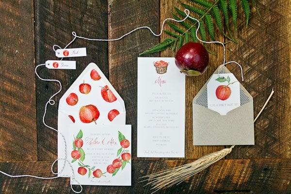 apple wedding ideas