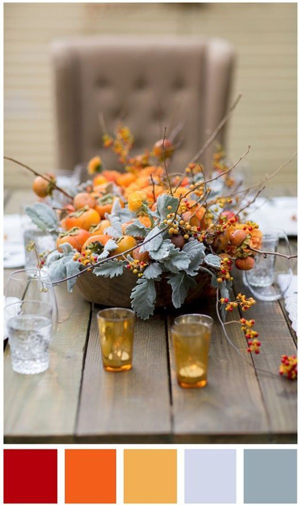 fall wedding colors