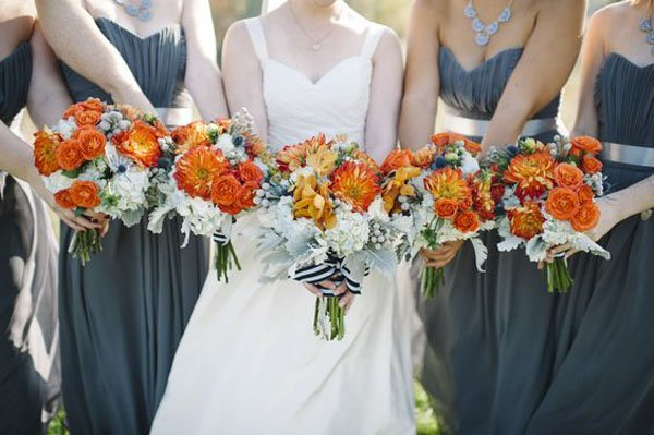 8 fall wedding colors that will totally inspire you fall wedding colors junglespirit Gallery