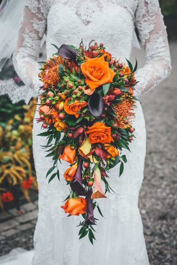 Fall Wedding Bouquets.10 Ideas For Fall Wedding Flowers That Will Make Your Wedding Pop
