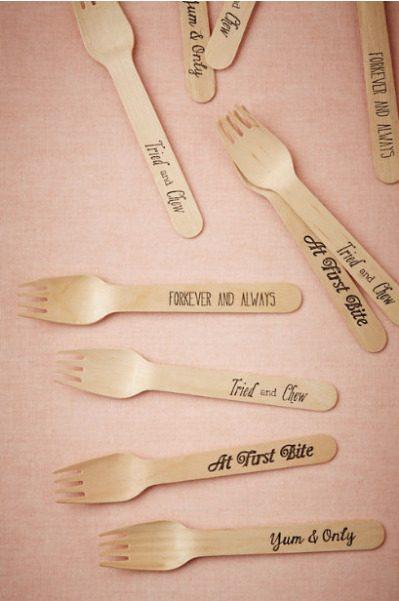 Love Pun Forks via BHLDN, 20 forks for $12
