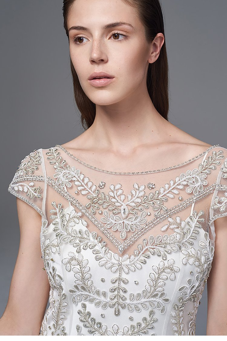 The 'Marianne' hand-embroidered dress with the 'Iris' slip.