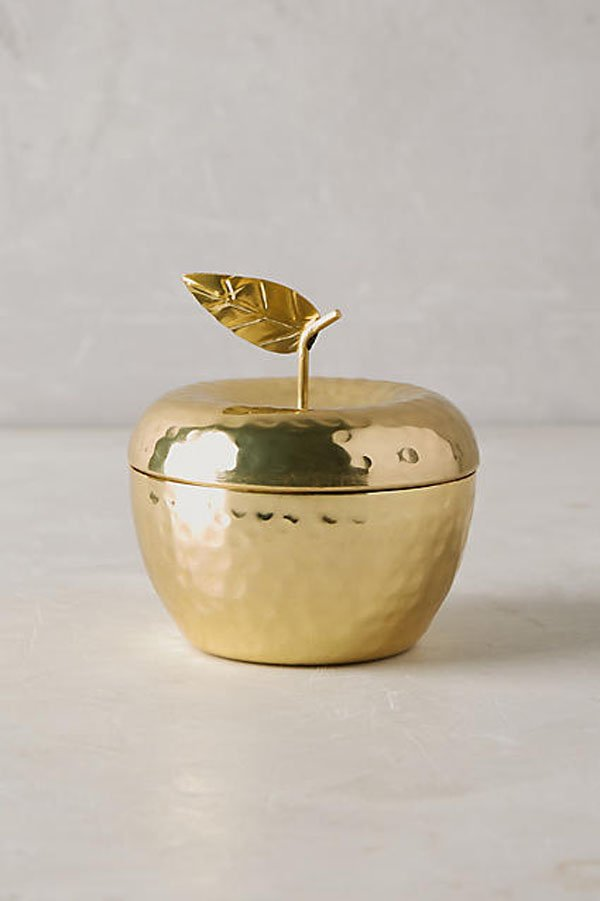 Anthropologie Apple Golden Fruit Candle