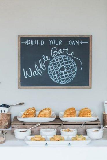 wedding food bar