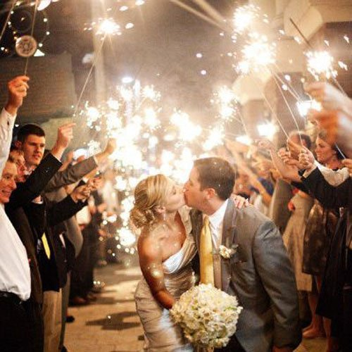 Amazing Wedding Sparkler Exits