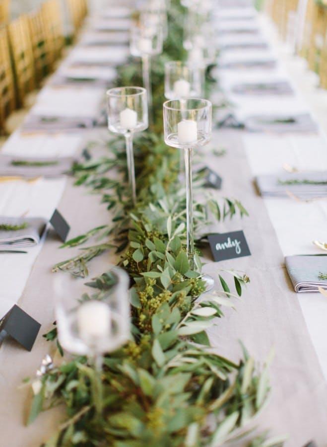 10 Beautiful Ideas for Flowerless Wedding Centerpieces