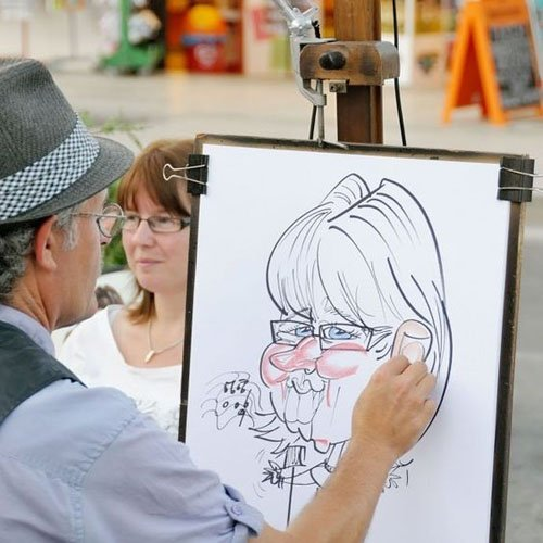 Or Hire a Sketch Artist as a Wedding Favor