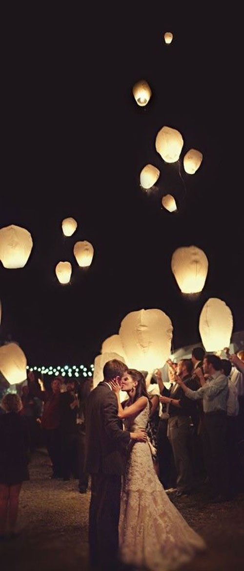 Or Create a Magical Sendoff with a Lantern Release