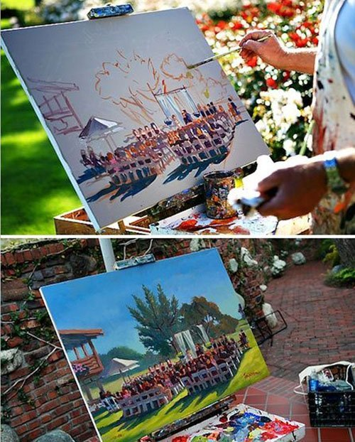 Have an Artist Paint Your Wedding Ceremony or Reception