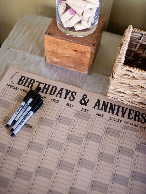 Have Guests Fill Out Important Dates to Remember