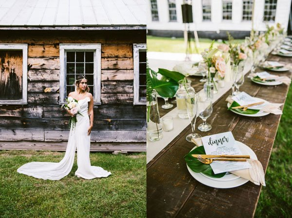 floating farmhouse wedding