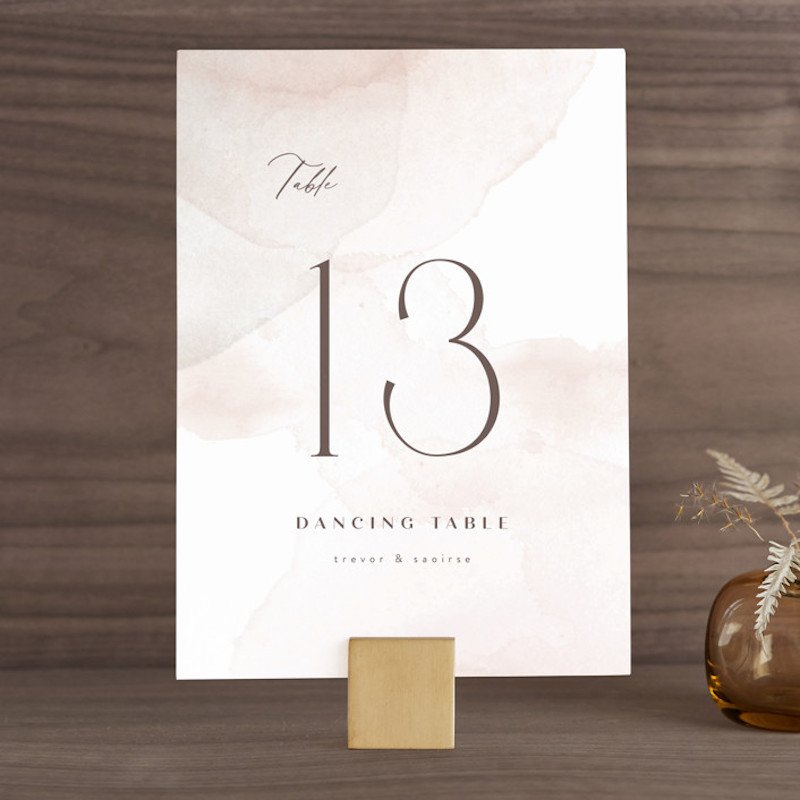 minted table numbers