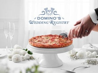 dominos wedding registry