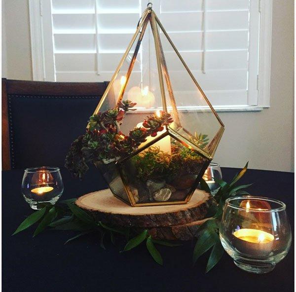 Wedding diy easy terrarium centerpiece
