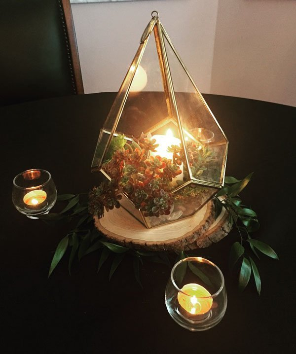 Wedding diy easy terrarium centerpiece