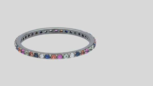 the multi color eternity band ring 450 - Inexpensive Wedding Rings