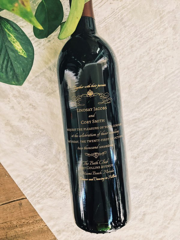 wine bottle invitations