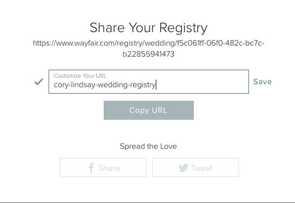We Review Wayfair's New Wedding Registry Option