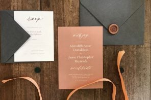 Wedding Invites The Perfect Return Address Stamp Woman Getting