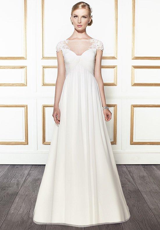 inverted basque wedding dress