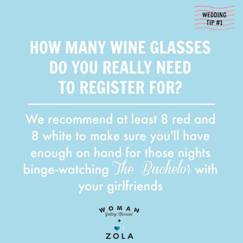 Don't Forget the Wine Glasses!