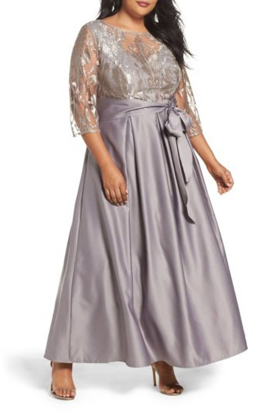 7b3acb25da4 25 Plus Size Mother of the Bride Dresses Your Mom Will Rock