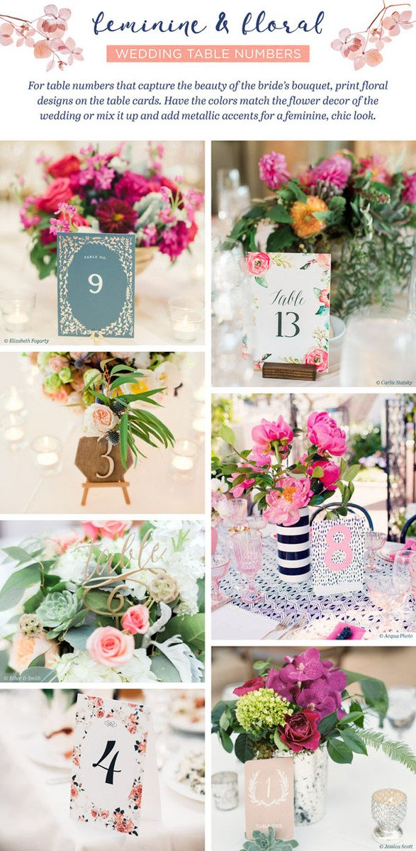 28 Wedding Table Numbers For Every Wedding Style