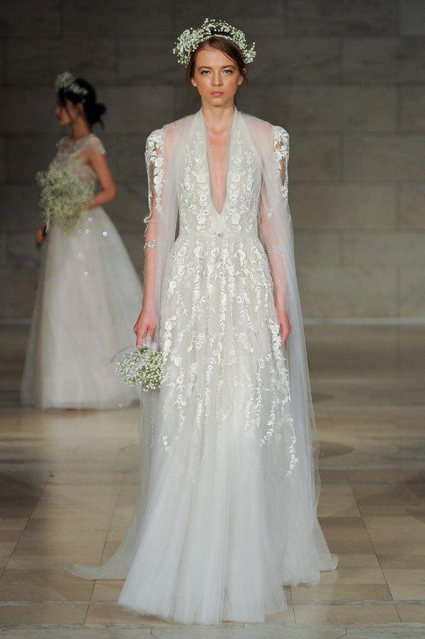 First look reem acra fall 2018 wedding dress collection reem acra wedding dresses junglespirit Gallery