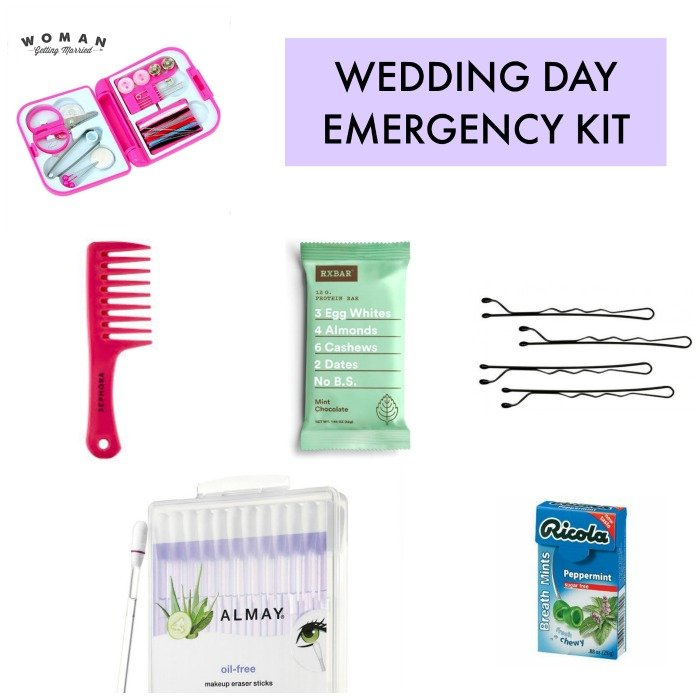 Wedding Day Emergency Kit.What To Put In Your Wedding Day Emergency Kit Woman Getting Married