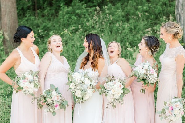 An ivory and blush wedding at the pearl street bar and grill junglespirit Gallery