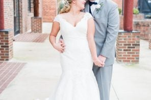 "Jessica & Gavin Say ""I Do"" in Blue"