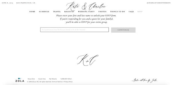 manage your entire guest list on your zola wedding website