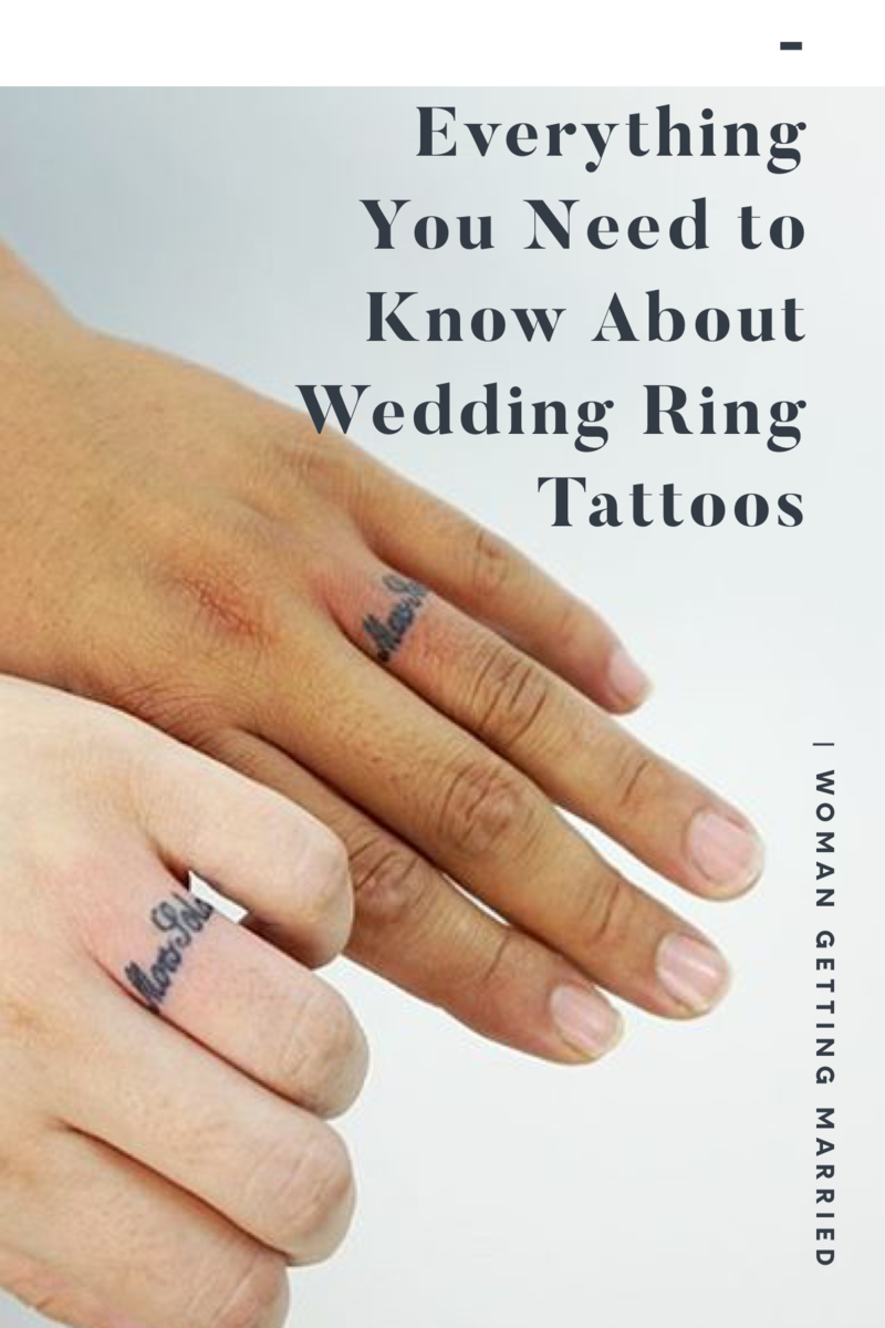 14 impossibly sweet ideas for wedding ring tattoos, and what you need to know before you get one.
