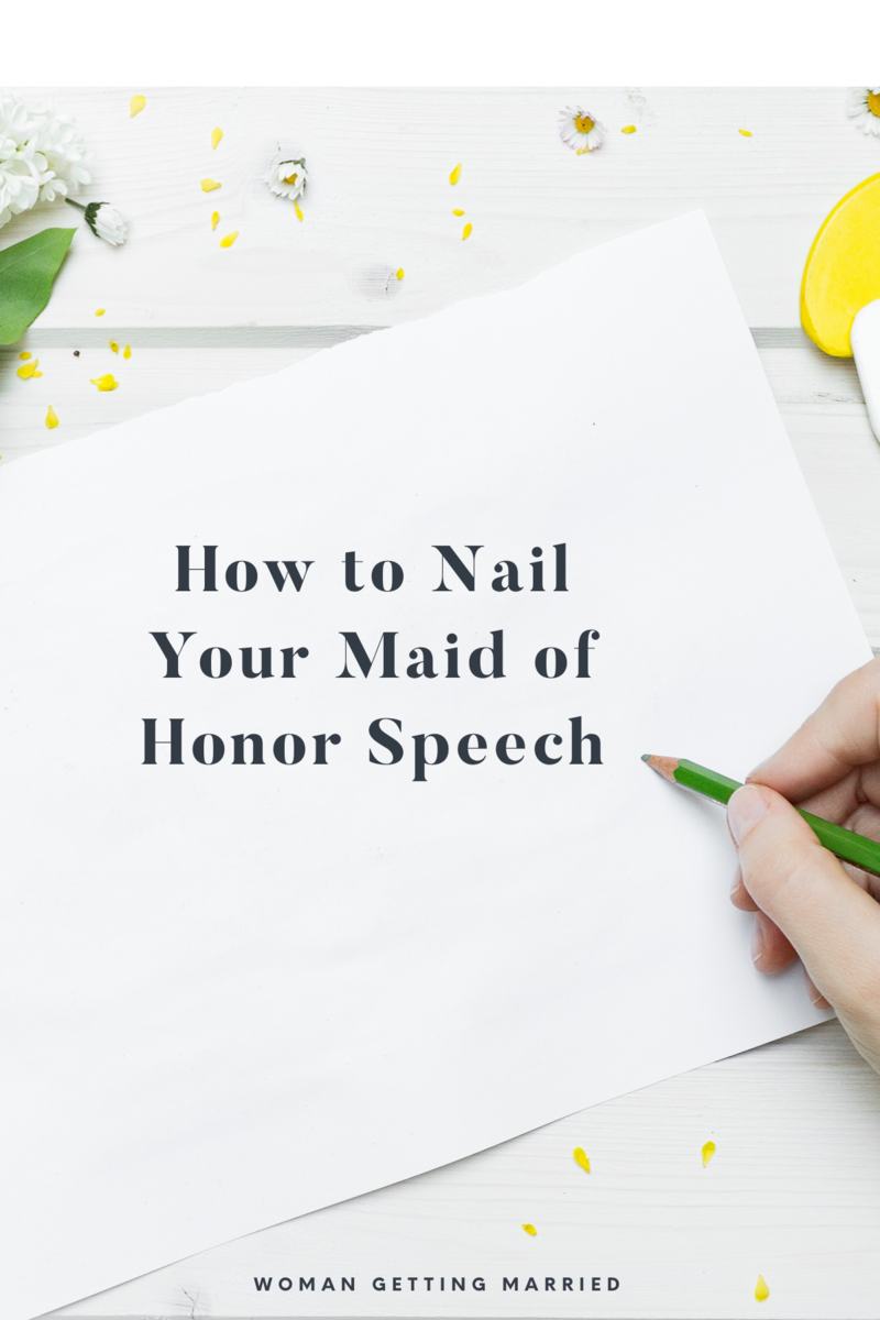 Tips for writing the best maid of honor speech with examples!