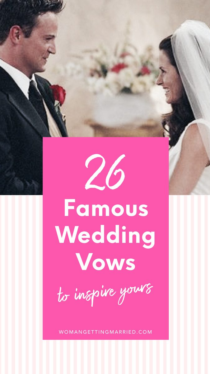 26 famous wedding vows to inspire your own