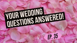 we answer your toughest wedding planning questions