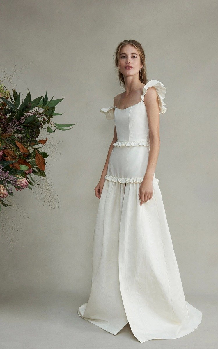 f31be221d3d9 White By Vera Wang Chiffon Bridesmaid Dress With Cascading Skirt