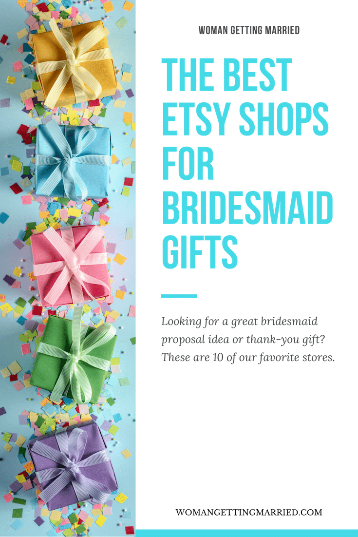 the best etsy shops for bridesmaid gifts