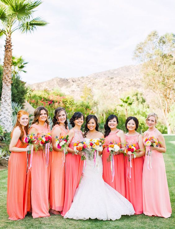 living coral pantone wedding ideas