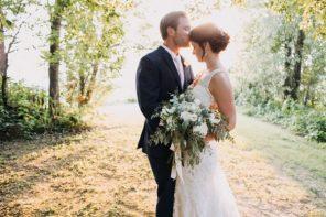 Ashley & Sam's Chic Rustic Wedding