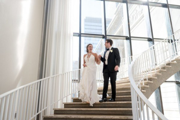 """Ashley & Tyler Say """"I Do"""" at the Art Institute of Chicago"""